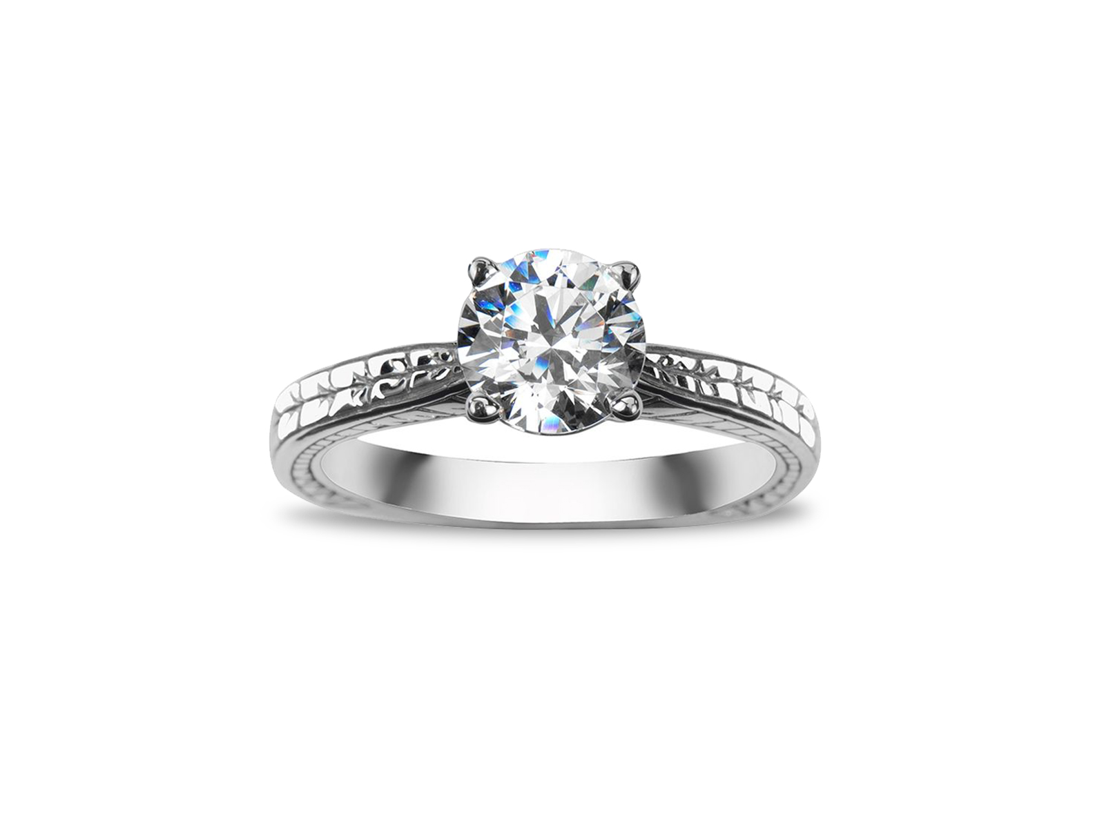 women's engagement ring in solitaire style